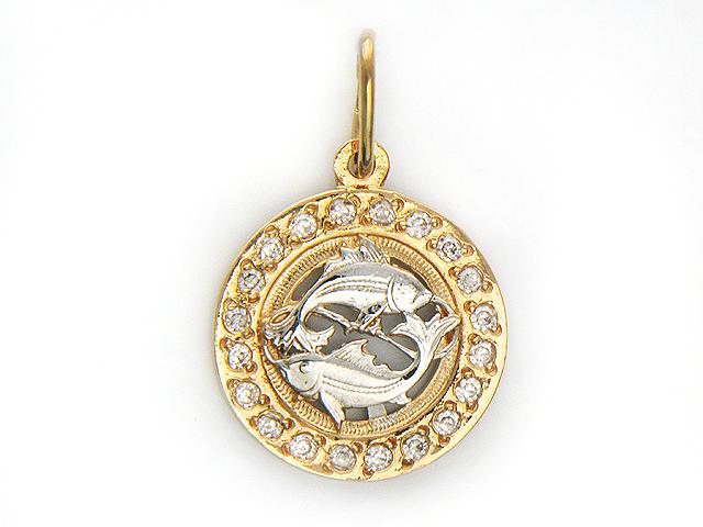 золотые кулоны со знаком зодиака телец