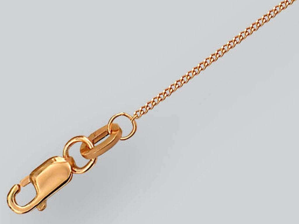 Цепь Панцирная, красное золото, 585 пробы 1мм