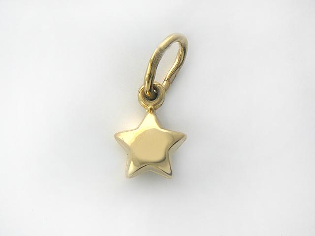 Кулон Звезда пятиконечная, желтое золото 585 проба