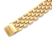 Браслет Ролекс Шашечки, красное золото 14 мм