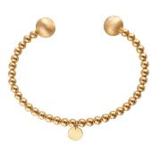 Браслет обруч открытый с шарами из красного золота