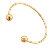 Браслет-обруч Шар из красного золота 585 пробы