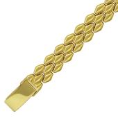 Браслет Ролекс соты, желтое золото