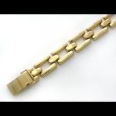 Браслет Ролекс литой, желтое золото 8мм