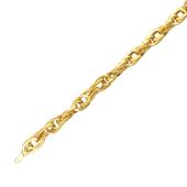 Браслет плетение Веревка из желтого золота