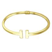 Браслет разомкнутый, желтое золото 585 пробы