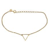 Браслет Треугольник из желтого золота 585 пробы