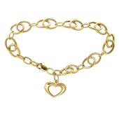 Браслет Сердце из белого золота 585 пробы