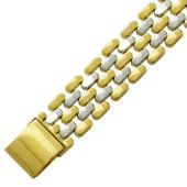 Браслет Ролекс Шашечки, комбинированное желтое золото 14мм