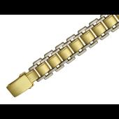 Браслет часовой Ролекс, белое и желтое золото 14.5 мм
