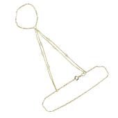Браслет Панье с фианитами и якорным плетением, желтое золото