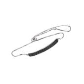 Браслет Дорожка с черными фианитами из серебра с регулируемым размером