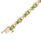 """Золотой браслет с полудрагоценным камнем, огранка """"Груша"""", различные вставки"""