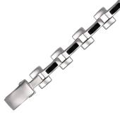 Браслет Ролекс с ониксом, серебро