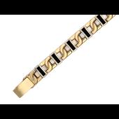 Браслет Ролекс с ониксом, желтое и белое золото