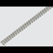 Браслет Дорожка с бриллиантами, белое золото 750 проба