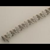 Браслет с бриллиантами, белое золото 750 проба