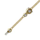 Браслет с бриллиантами, желтое и белое золото 750 проба