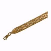 Браслет Ролекс с алмазной огранкой, желтое золото 8мм