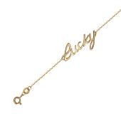 Браслет с надписью Лаки Lucky Удача, красное золото