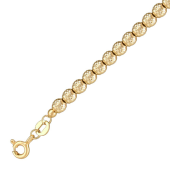 Браслет Шарики с алмазными гранями, желтое золото