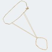 Браслет Панье с якорной цепочкой, красное и белое золото