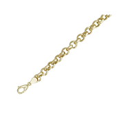 Цепь Якорная Шопард пустотелая на карабине, желтое золото 6.6мм