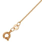 Цепь Якорная с алмазной огранкой, красное золото, 585 пробы 1.1мм