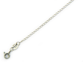 Цепь Одинарный ромб с алмазной огранкой 2-х сторон, белое золото, 585 проба 1.3мм