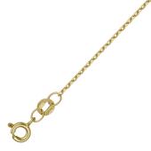 Цепь Якорная с хвостиком, желтое золото 1мм
