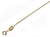 Цепь двойная панцирная с алмазной огранкой 2-х сторон, жёлтое золото 1.1мм