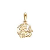 Подвеска знак зодиака Козерог из красного золота 585 пробы