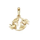 Подвеска рыбы из красного золота 585 пробы