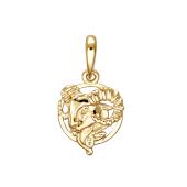 Подвеска знак зодиака Овен из красного золота 585 пробы