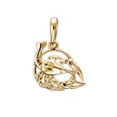 Подвеска знак зодиака Рак из красного золота 585 пробы