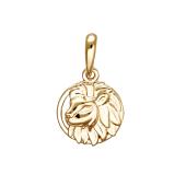 Подвеска Лев из красного золота 585 пробы