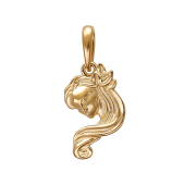 Подвеска знак зодиака Дева из красного золота 585 пробы