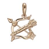 Подвеска знак зодиака Стрелец  из красного золота 585 пробы