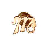 Брошь Скорпион, красное золото