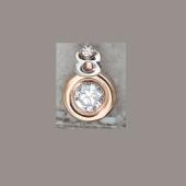 Подвеска Знак зодиака Телец с круглым фианитом из красного золота 585 пробы