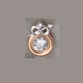 Подвеска Знак зодиака Стрелец с круглым фианитом из красного золота 585 пробы