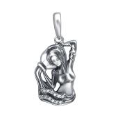 Кулон Водолей знак зодиака с фианитами из серебра 925 пробы