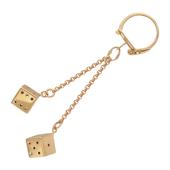 """Брелок для ключей """"Игральные кости"""", кубики, красное золото, 585 пробы"""