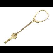 """Брелок для ключей """"Ключ"""" на якорной цепи, желтое золото, 585 пробы"""