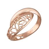 Кольцо ажурное из красного золота