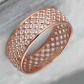 Кольцо Шарлотта из красного золота