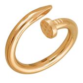 Кольцо Гвоздь из красного золота