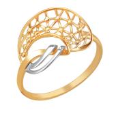 Кольцо Сеточка, красное золото 585 пробы