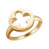 Кольцо Клевер из красного золота 585 пробы