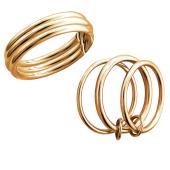 Кольцо Тринити из красного золота 585 пробы
